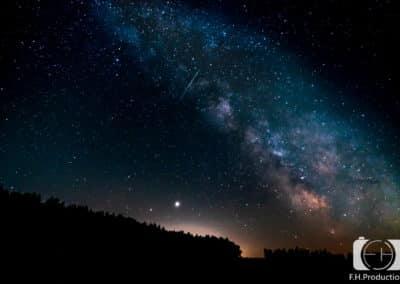 Milchstraße und Sternschnuppe